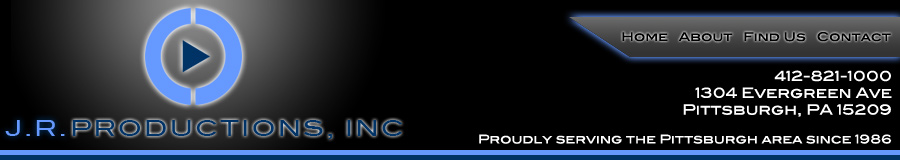 J R Productions, Inc. Banner